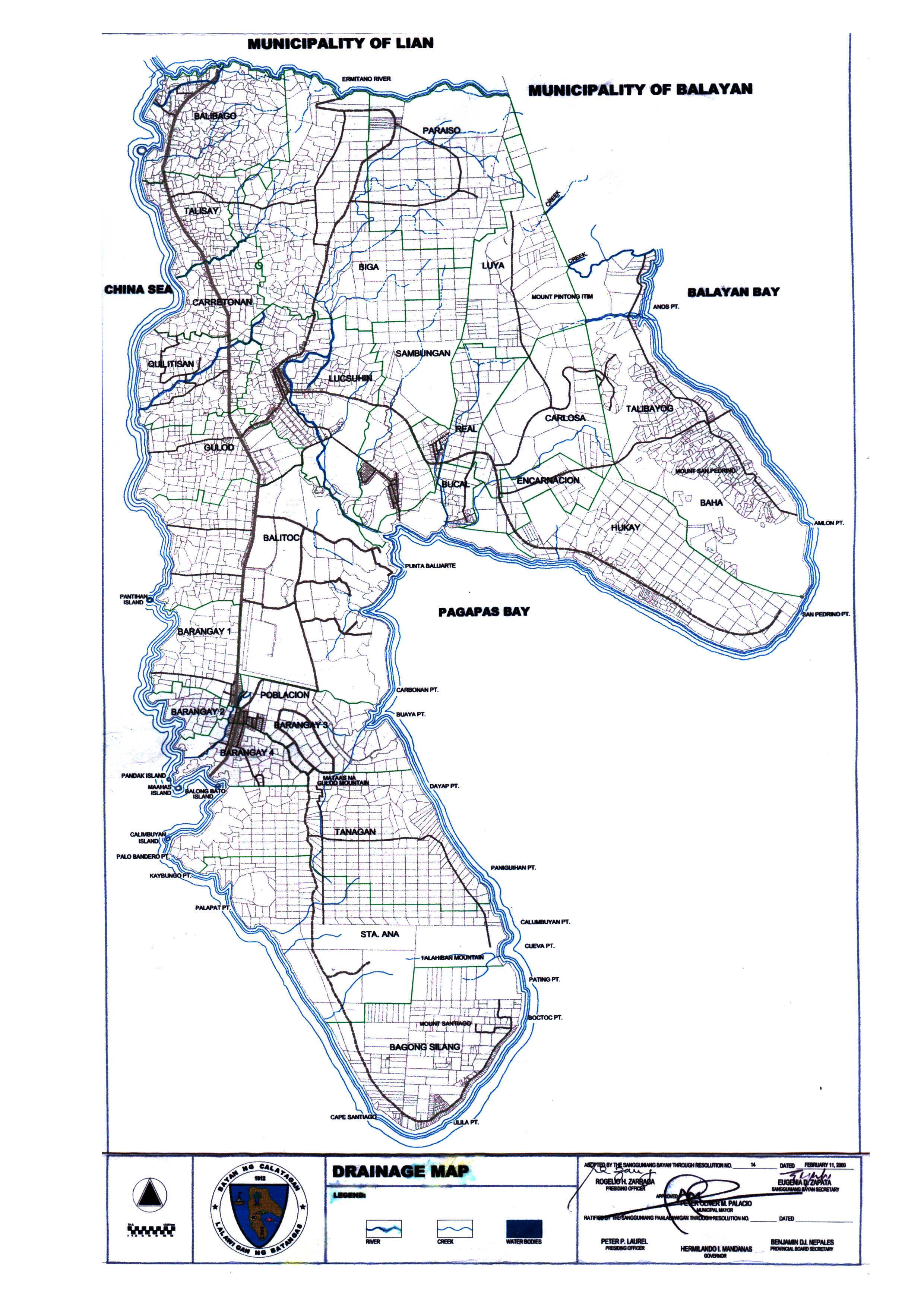 drainage map