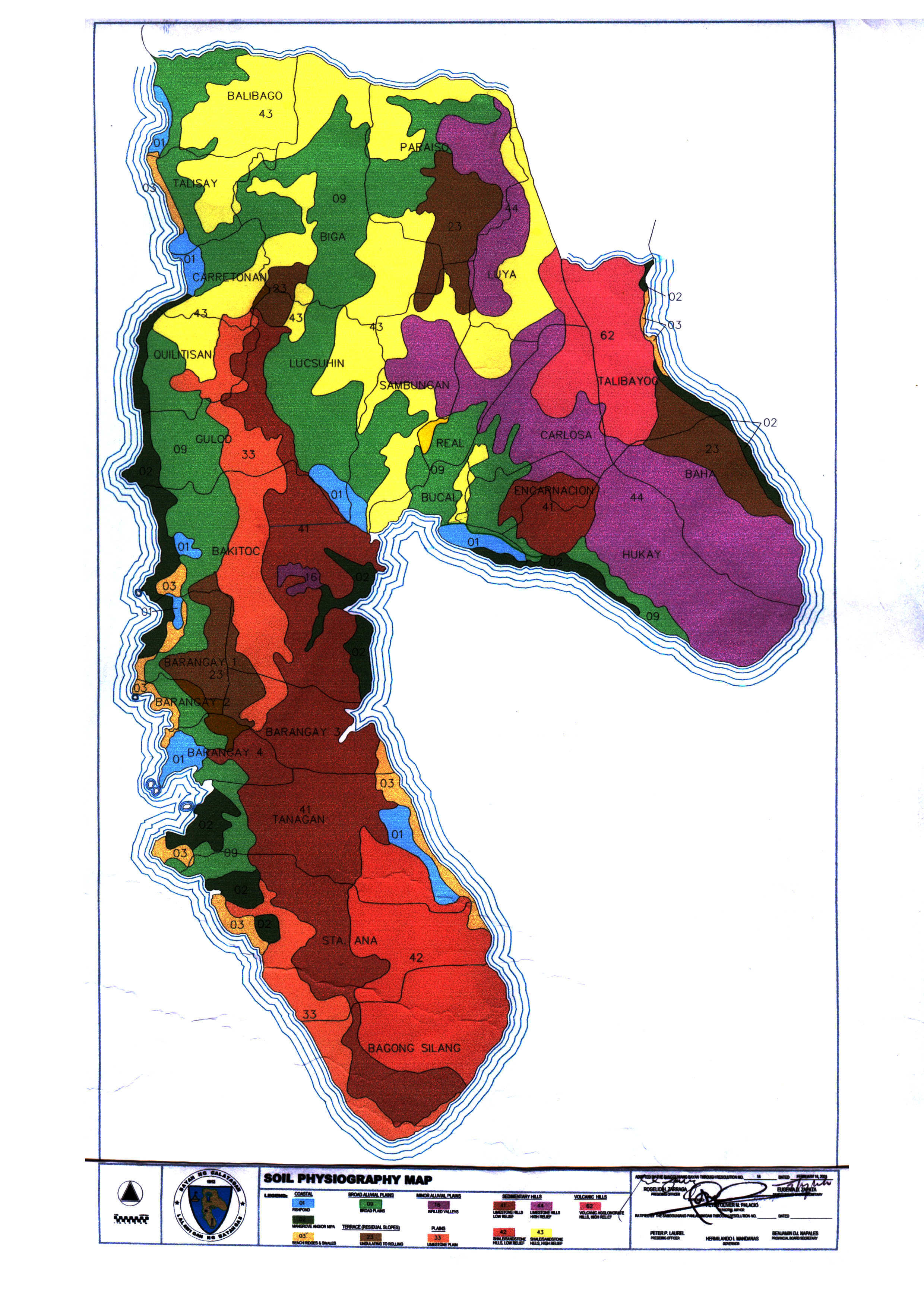 soil physiography map