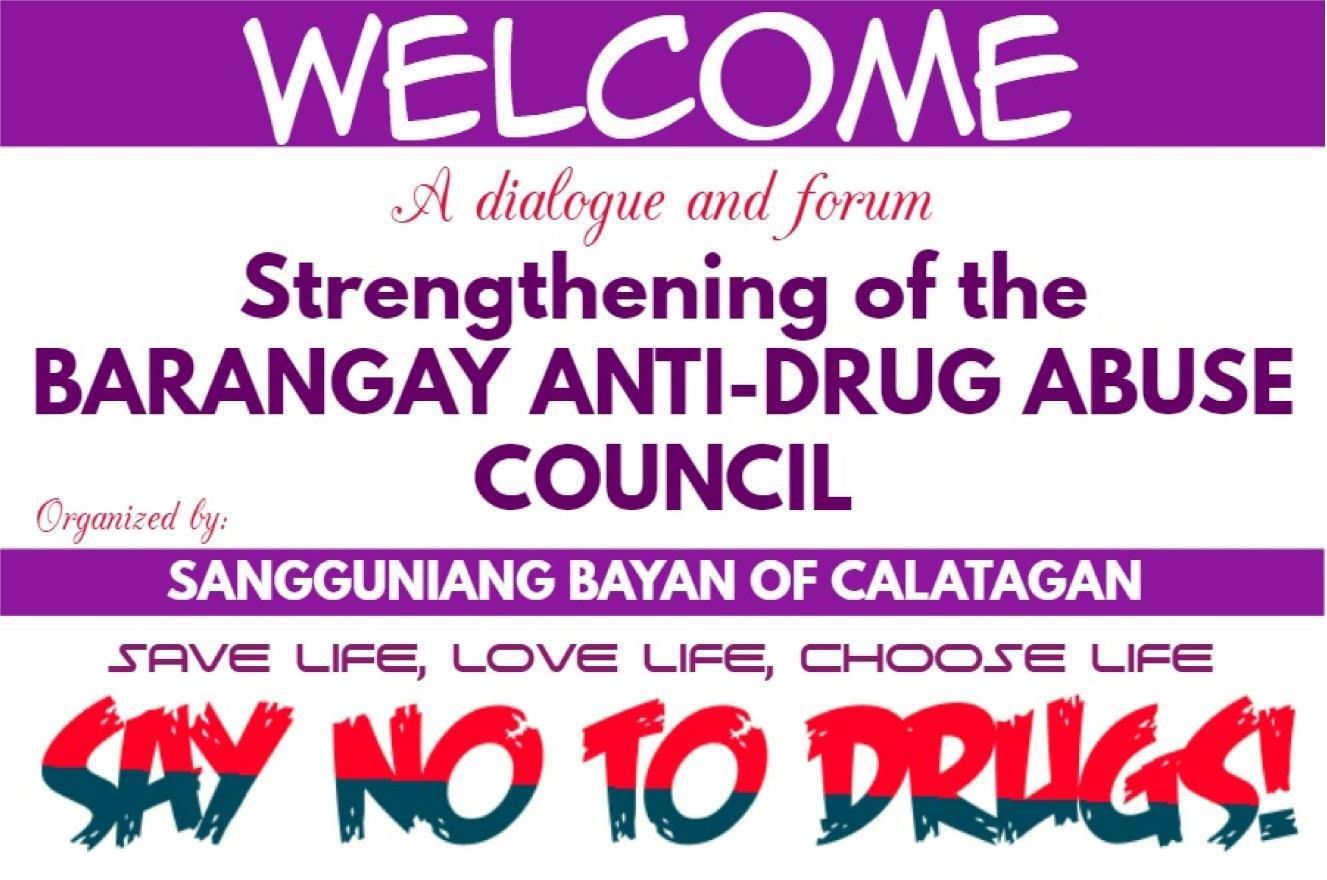 Strengthening of the Barangay Anti-Drug Abuse Council – Municipal